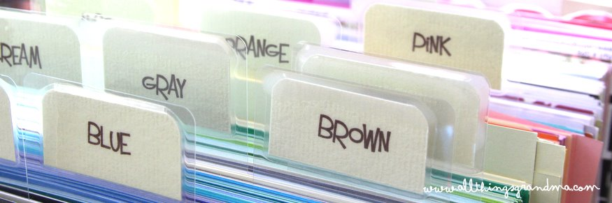 Organize Scrapbook Paper