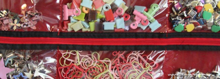 Organize Scrapbook Embellishments
