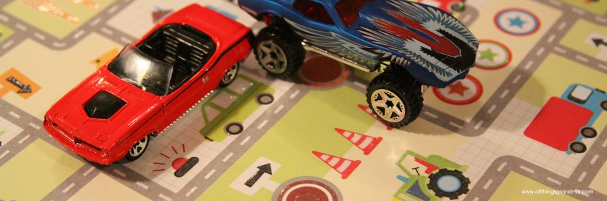 Race You to Dinner !  Place Mats for Boys