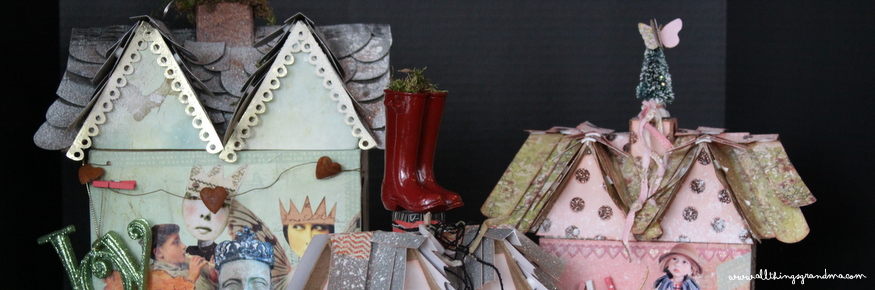 Paper Mache' Christmas Cottages