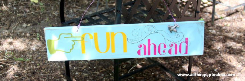 """Fun Ahead"" Wooden Sign"