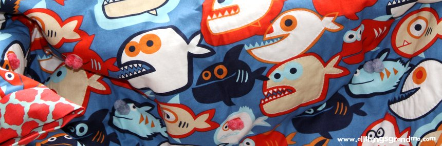 Piranha Quilt for Chomping