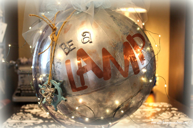 Globe Decor: Lamp, Lifeboat or Ladder